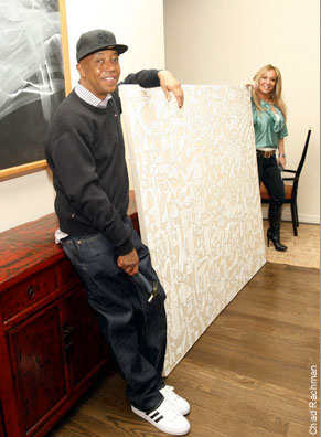 Russell Simmons with Anarctica Painting